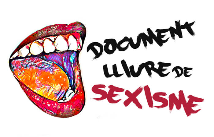 diseño de logotipos e identidad. Sello libre de sexismo