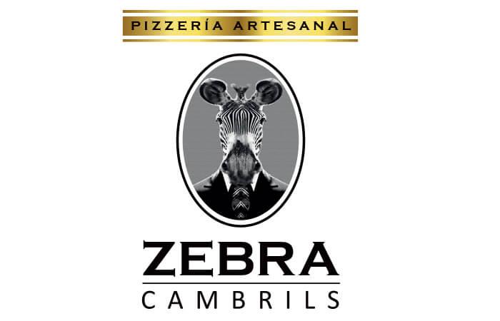 diseño de logotipos e identidad. Pizzería Zebra